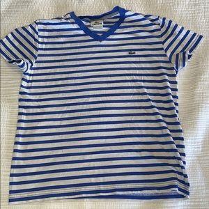 Men's Lacoste Stripped V Neck T Shirt